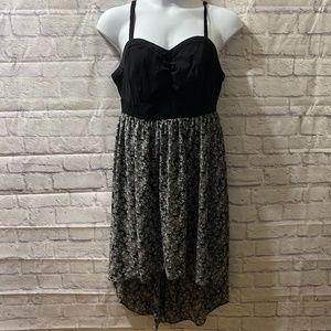 Torrid Black & Floral Hi Low Dress